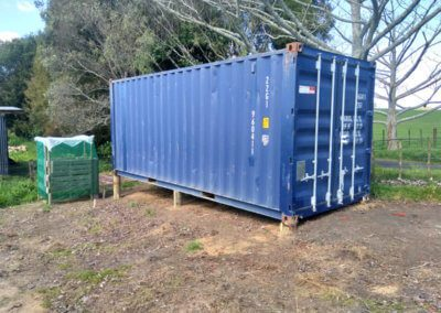 Placement of Gary's Shipping Container